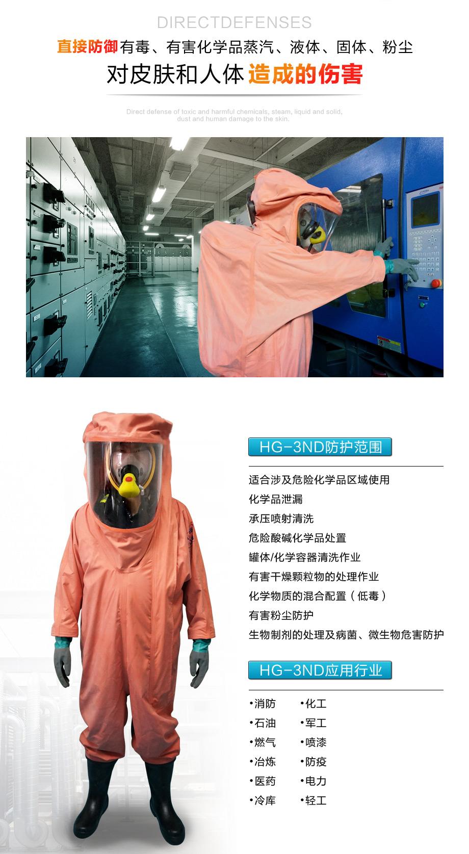 海固3np防化服可应用在消防、化工、石油等行业