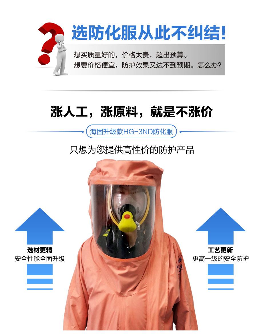 海固3nd防化服厚度达0.45mm