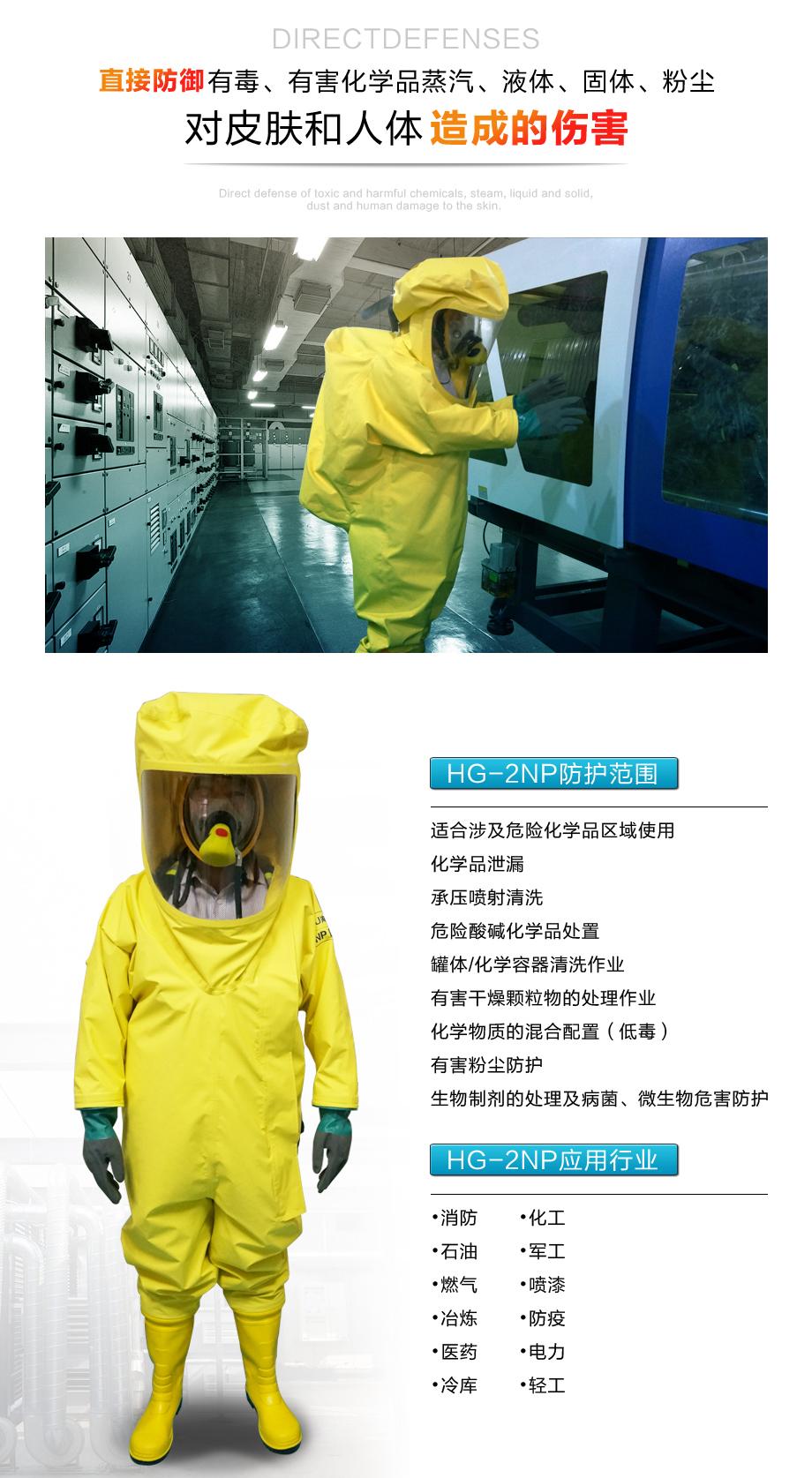 海固2np防化服使用环境包括化学品处理、喷漆等多种