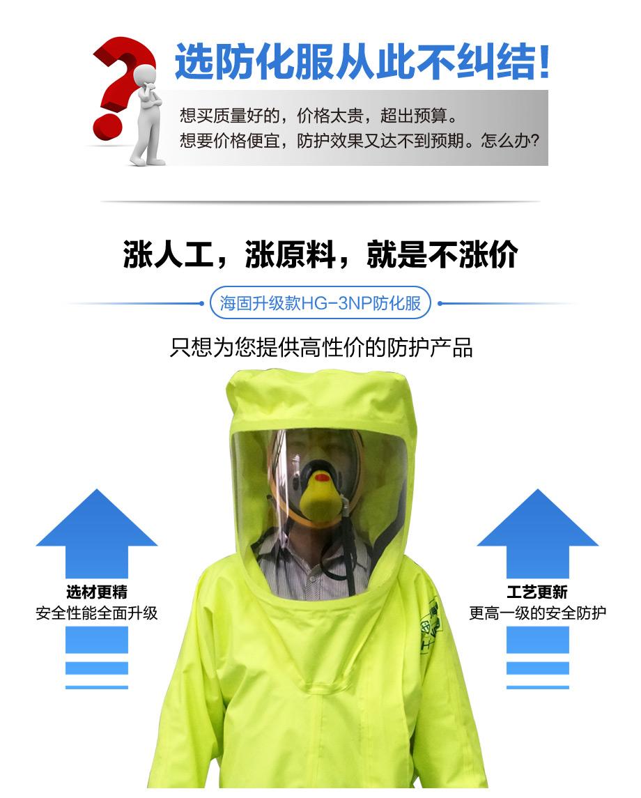海固3np重型防化服采用大面屏视窗