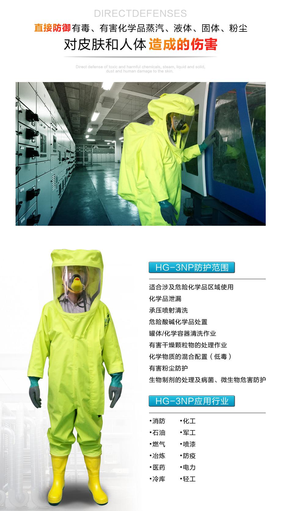 海固3np防化服可用在农业喷洒,化学品处理